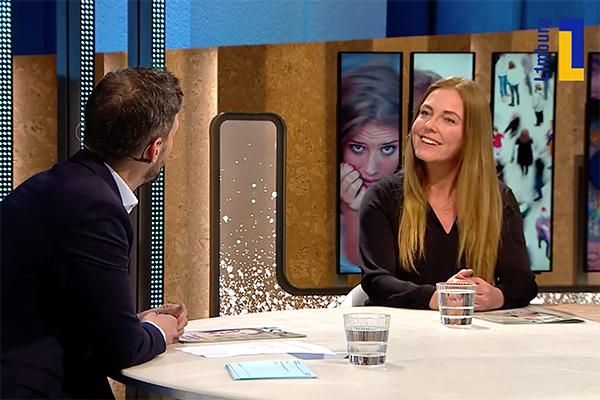 Hoofdredacteur Brigitte Schellens bij L1 tv